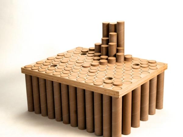 Pappmöbel Möbel aus Pappe the continual cardboard chair