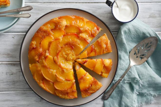 Pfirsichkuchen zubereiten zwei Rezepte saftig kalorienarm schnell und leicht
