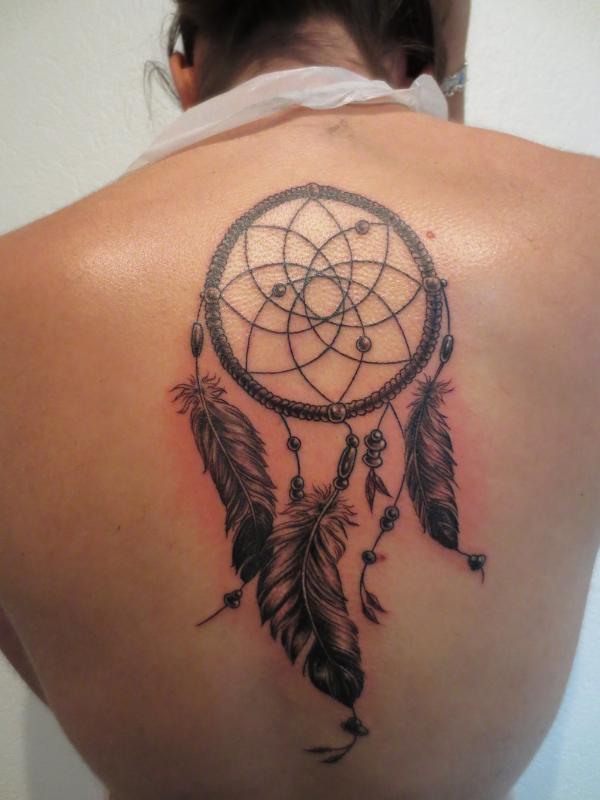 Rücken Körperschmuck Traumfänger Tattoo