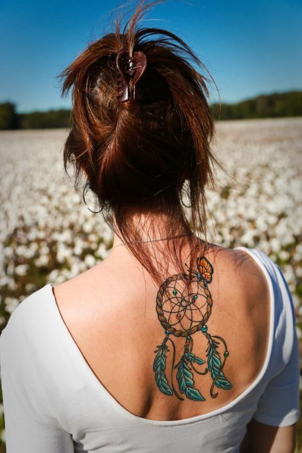Rücken T-Shirt Traumfänger Tattoo