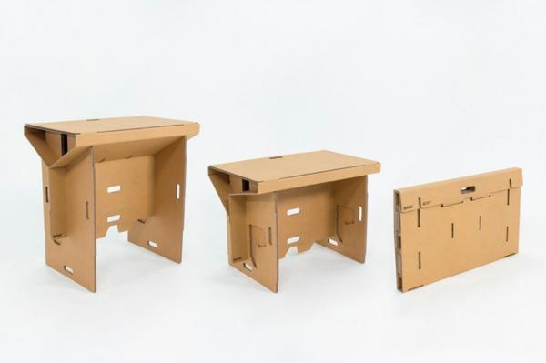 Refold Schreibtisch Pappmöbel Möbel aus Pappe