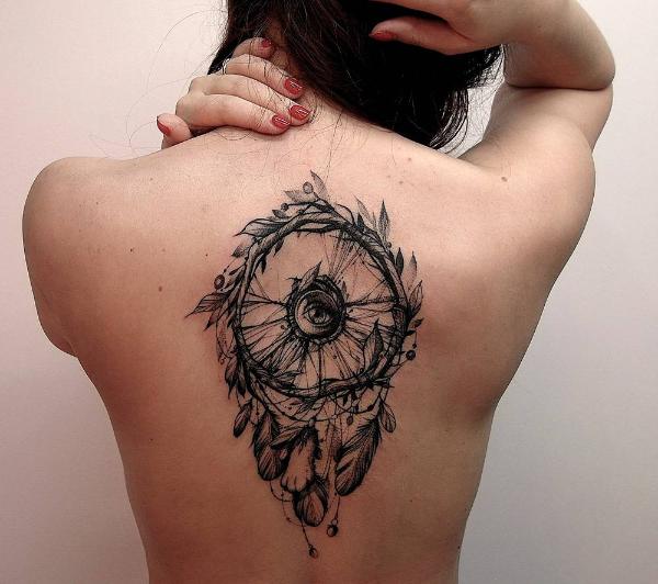 Riesige Idee für ein Traumfänger Tattoo