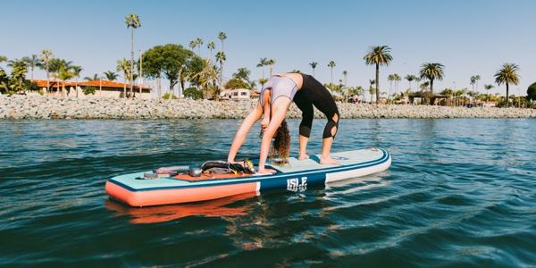 SUP Yoga Tipps Paddleboard Yoga Stehpaddeln