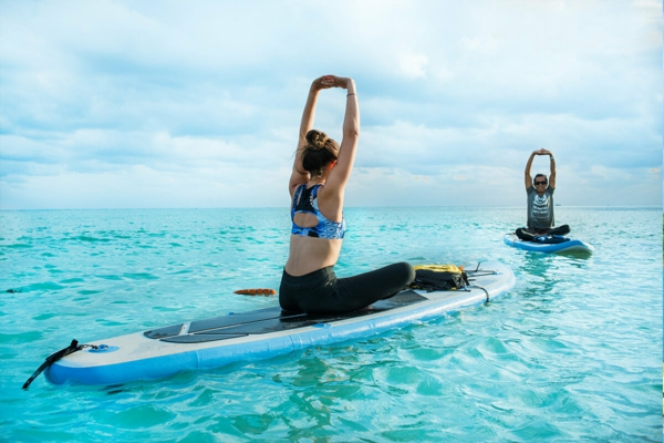 SUP Yoga Tipps Paddleboard Yoga treiben Gleichgewicht Balance innere Ruhe
