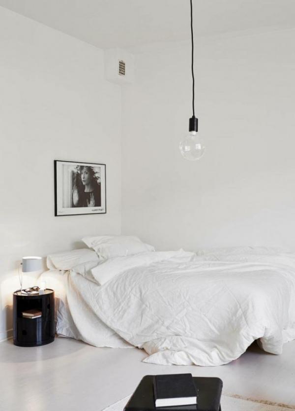 Schlafzimmer minimalistisch einrichten Raumdeko aufs Minimum reduzieren