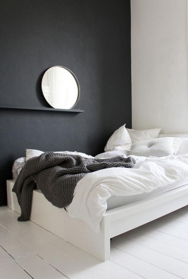 Schlafzimmer minimalistisch einrichten kein Fernseher keine modernen Devices