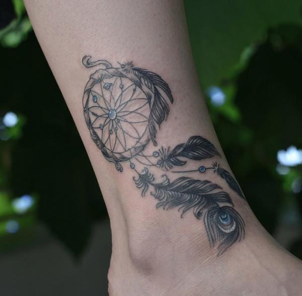 Schmuck Bein Ideen Traumfänger Tattoo