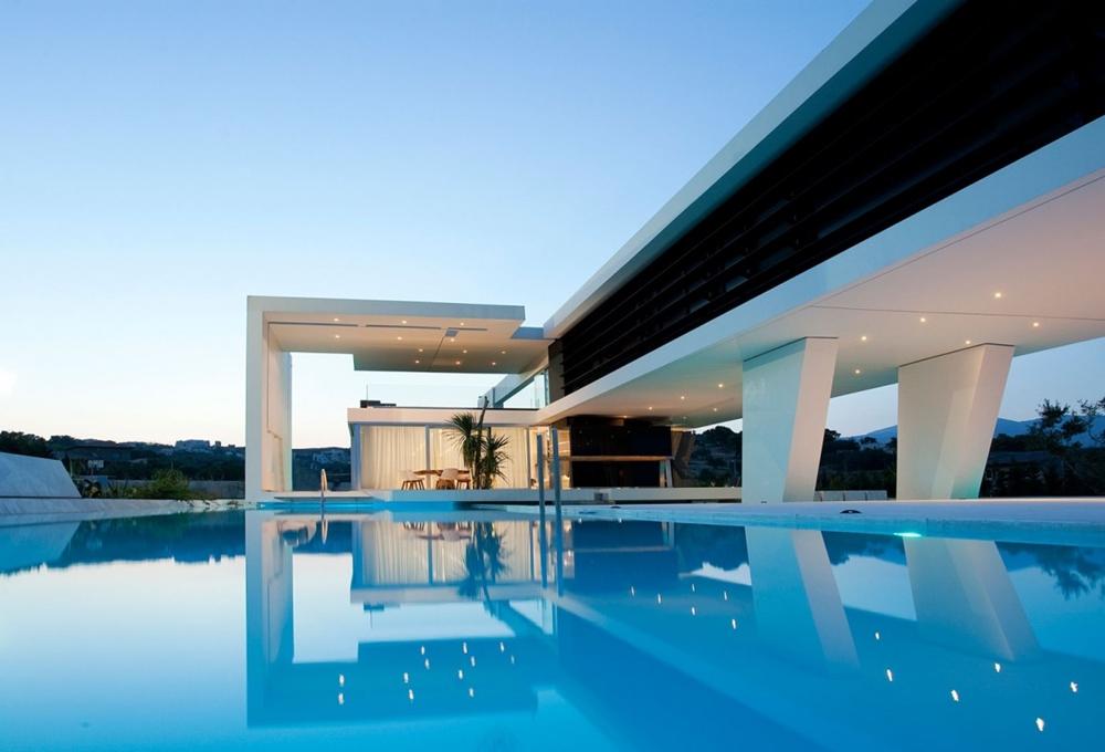 Schwimmbad Ideen - tolle moderne Häuser