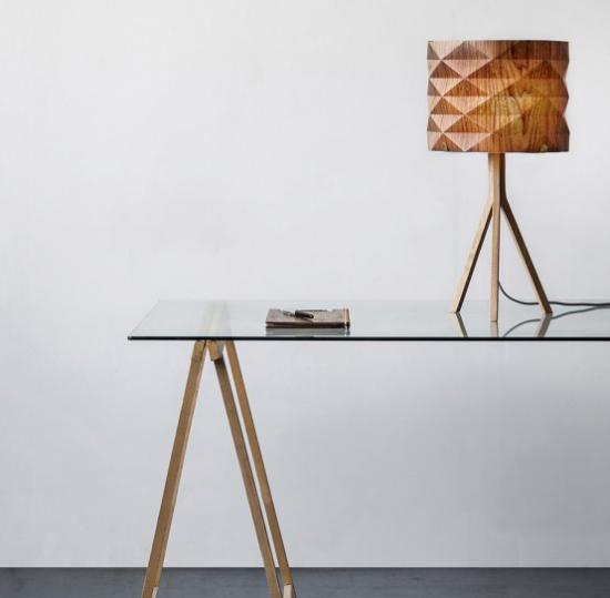 Tischlampen ausgefallen fantasievoll designt klassisches Lampendesign mit modernen geometrischen Formen