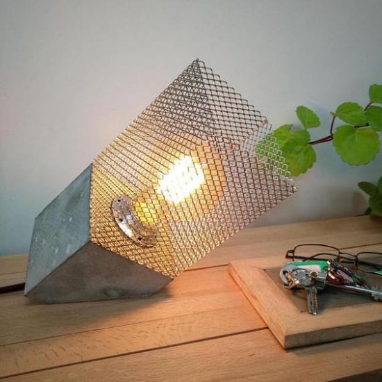 Tischlampen ausgefallen fantasievoll designt mutige Idee Lampendesign im Industrial Style
