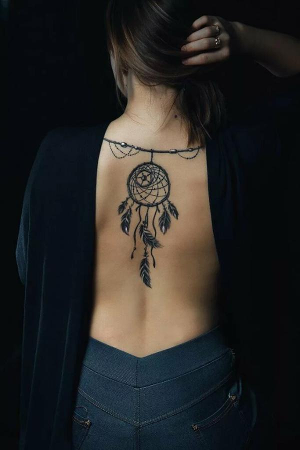 Traumfänger Tattoo Rücken Design