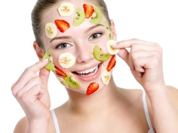Verschiedene Früchte Ideen Gesichtsmaske