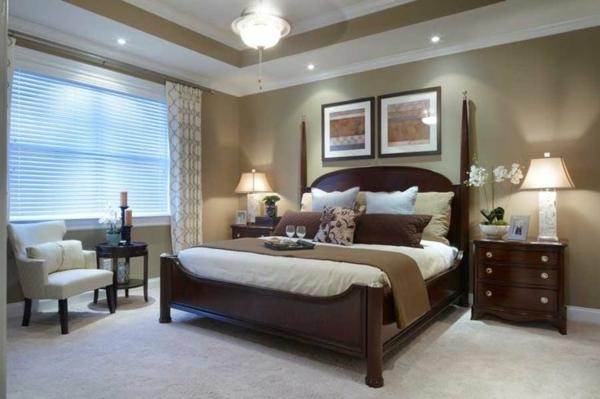 Wandgestaltung Schlafzimmer Wandfarbe beige