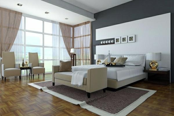 Wandgestaltung Schlafzimmer Wandfarben Ideen