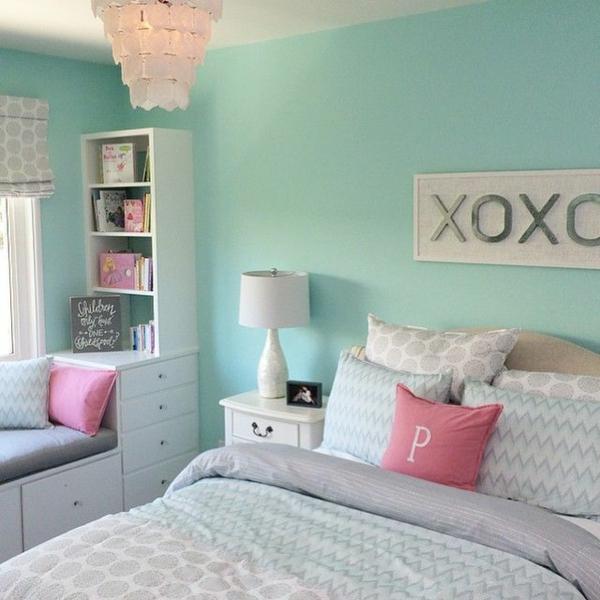 Wandgestaltung Schlafzimmer Wandfarben Pastellfarben