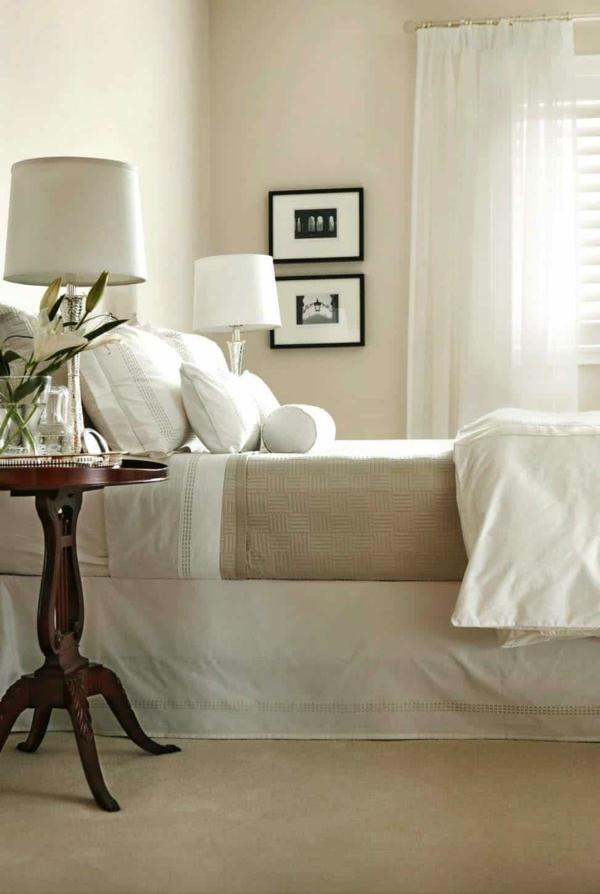 Wandgestaltung Schlafzimmer Wandfarben Pfirsich Farbnuancen