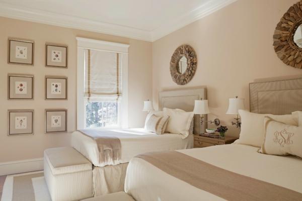 Wandgestaltung Schlafzimmer Wandfarben cremige Farbnuancen