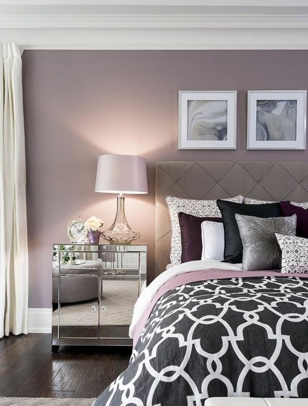 Wandgestaltung Schlafzimmer Wandfarben entspannende Atmosphäre