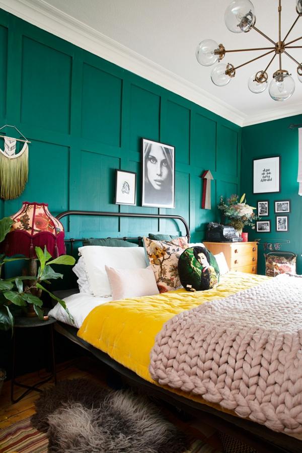 Wandgestaltung Schlafzimmer Wandfarben