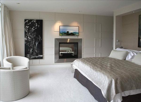 Wandgestaltung Schlafzimmer Zierleisten verwenden