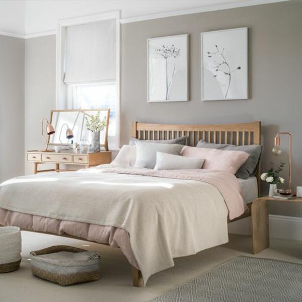 Wandgestaltung Schlafzimmer helle Wandfarben