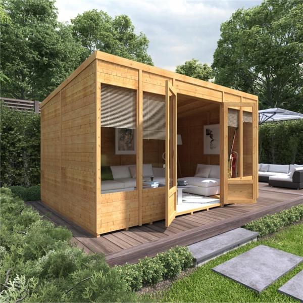 Warum in ein Gartenhaus aus Holz investieren Entspannungsecke