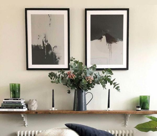 abstrakte kusnt bilder aufhängen ohne bohren
