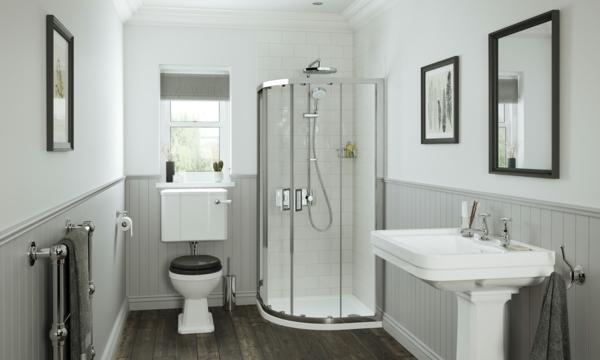 bad ohne fliesen weiß hellgrau duschkabine