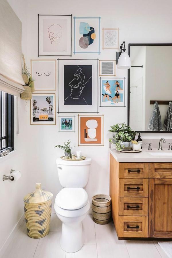 badezimmer fotowand ideen