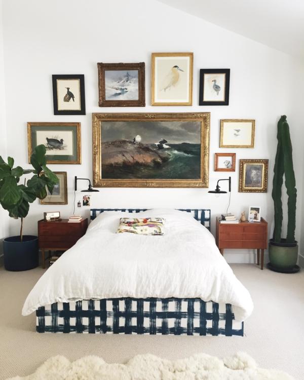 bilder aufhängen ohne bohren petersburger hängung schlafzimmer