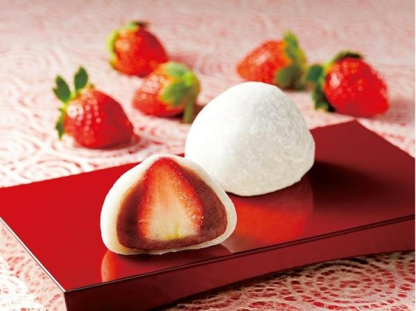 daifuku erdbeeren japanische süßigkeiten