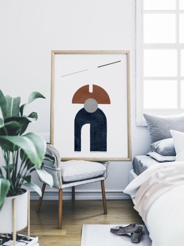 dekorieren mit bildern schlafzimmer deko