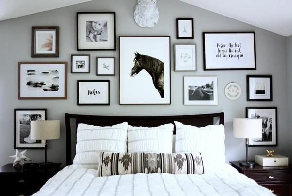 elegante wanddeko bilder aufhängen ohne bohren