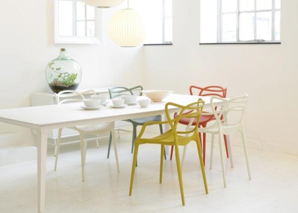 farbkontraste küchenstühle designklassiker