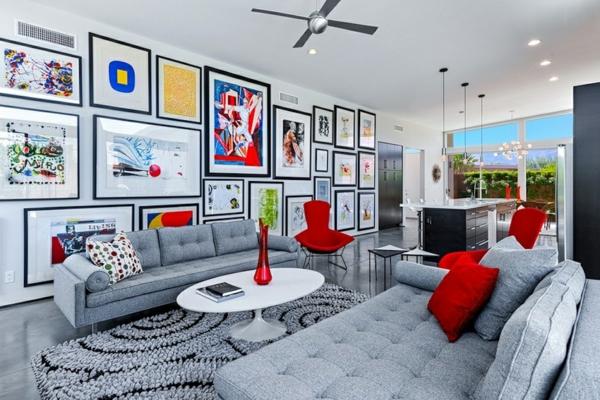 fotowand ideen wohnzimmer