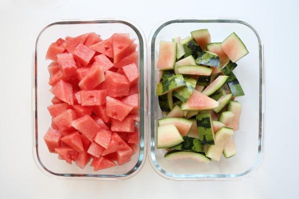 gesunde idee wassermelonen schale essen
