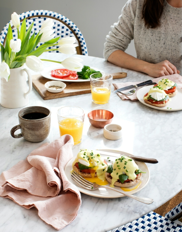 häusliches Brunch Buffet Brunch Ideen Sonntag morgen Frühstücksideen