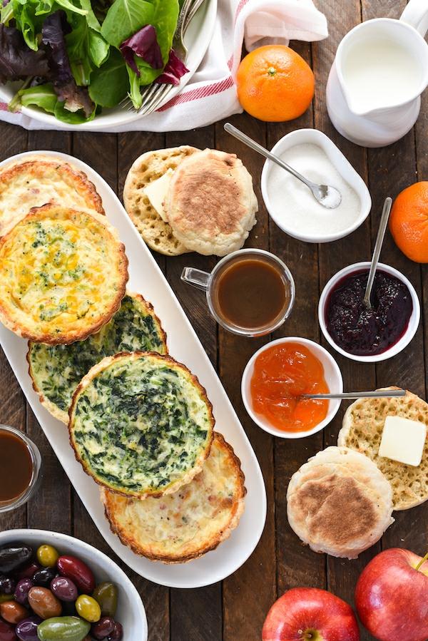 häusliches Brunch Buffet Brunch Ideen gesunde Frühstücksideen