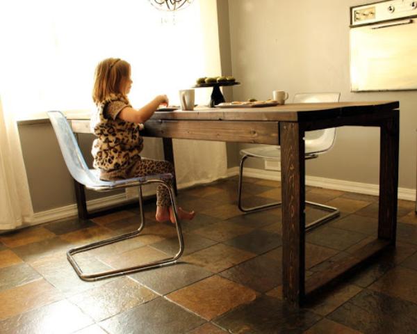 kleine kinder ideen modernen tisch selber bauen
