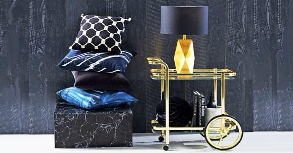 luxus barwagen gold glas