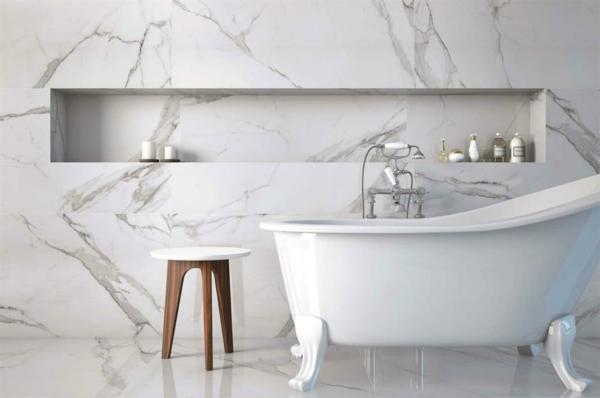 marmor bad ohne fließen mit freistehender badewanne