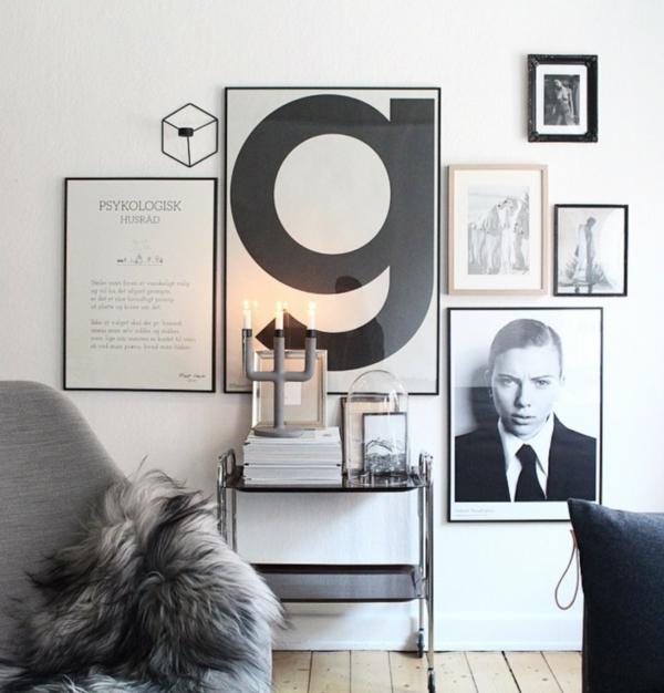 minimalistische wanddeko mit bildern