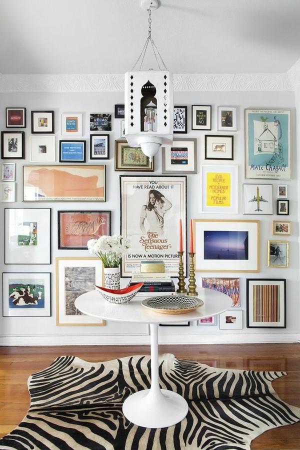 moderne wanddeko bilder fotos aufhängen petersburger hängung