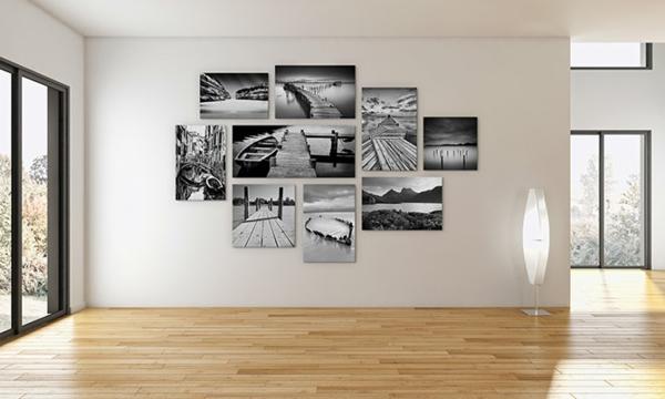 moderne wandgestaltung fotowand petersburger hängung