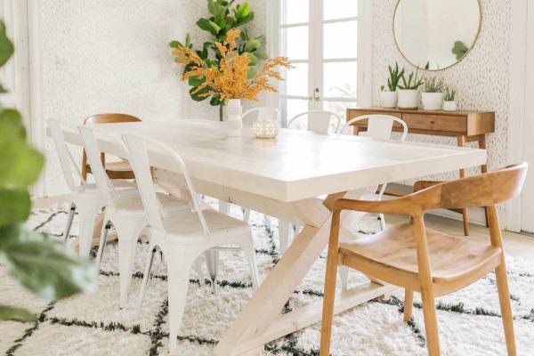 modernen tisch selber bauen elegante weiße idee
