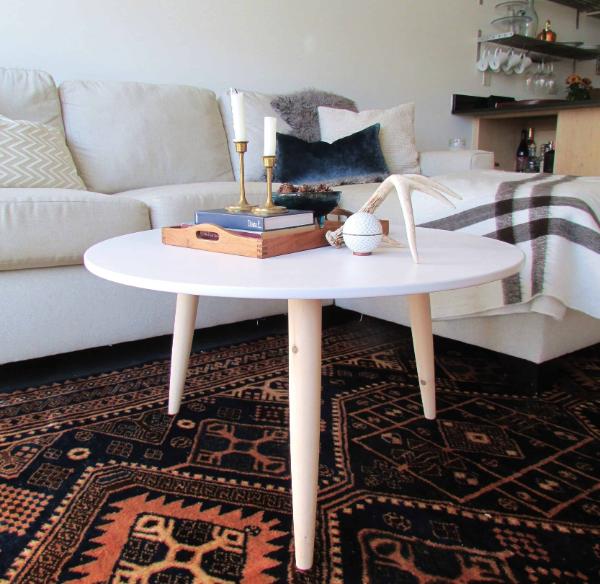 modernen tisch selber bauen runder tisch in der wohnung