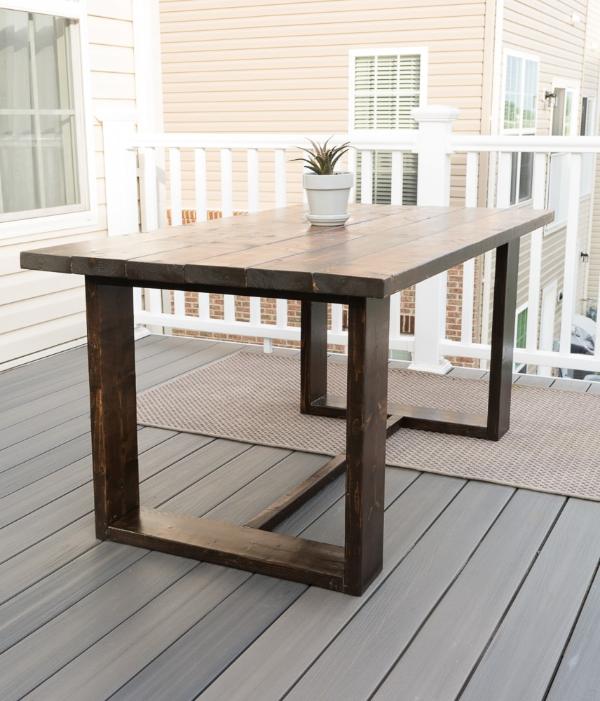 quadratischen holztisch modernen tisch selber bauen