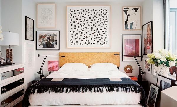 schlafzimmer wandgestaltung bilder aufhängen ohne bohren