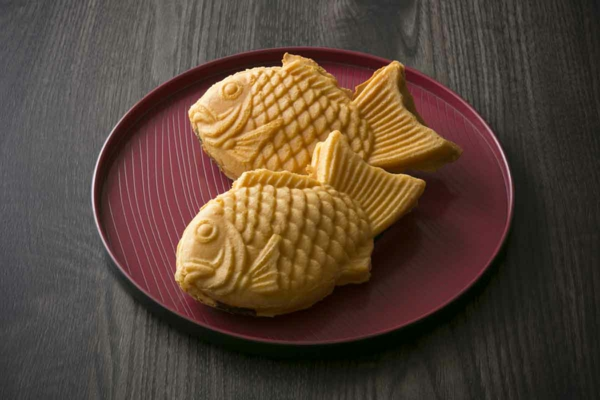 taiyaki traditionelle japanische süßigkeiten fisch form
