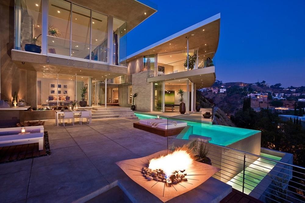 tolle Architektur Terrassengestaltung moderne Häuser